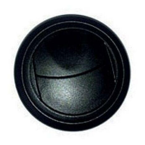 Bouche aeration 2 volets 63mm noir
