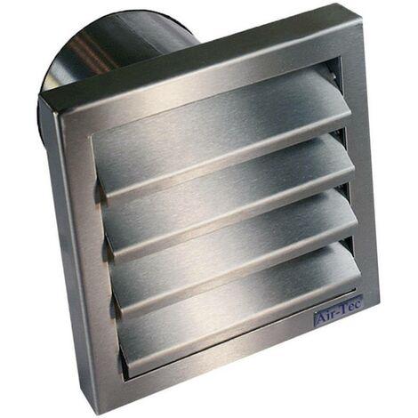Bouche d'aération avec clapet anti-retour Wallair N31846 12.5 cm acier inoxydable Y08645