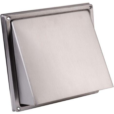Bouche d\'aération Wallair NW 100 10 cm acier inoxydable S89353