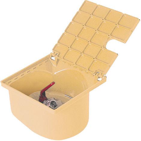 Bouche d'arrosage carrée a robinet 1/4 de tour sable