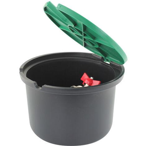 Bouche d'arrosage en plastique avec robinet/vanne intégré - M 3/4' et F 3/4' - INTERPLAST