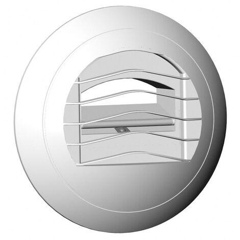 Bouche d'extraction autoréglable bi-débit BARJ 45/135 - ø 125mm - 45m³/h - Avec manchette à joints - Cordelette