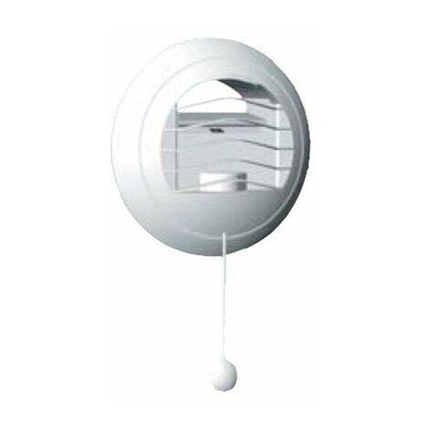 Bouche d'extraction autoreglable bi-débit BARP 45/120 - ø 125mm - 45m³/h - Avec manchette placo 3 griffes - Cordelette