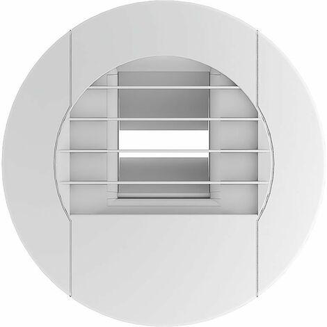 Bouche d'extraction hygroréglable BEHC.E 10-45/105 - Cuisine - ø 125mm - de 10 à 45m³/h - Bouton poussoir ou télécommande