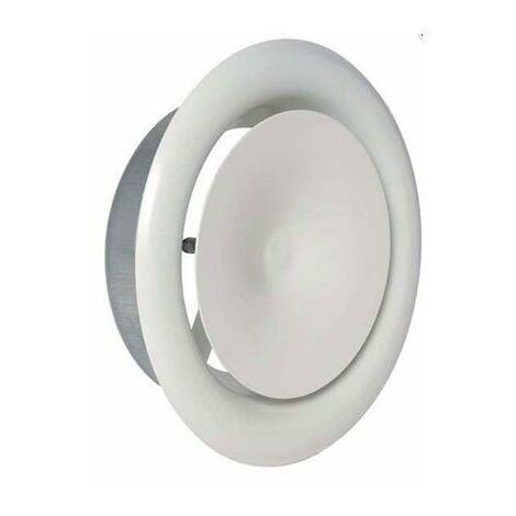 Bouche d'extraction SR 145 Aldes - Noyau acoustique - Ø125 mm - Blanc