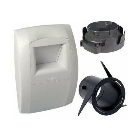 Bouche d'extraction VMC hygroréglable Bahia pour salle de bain/WC - Blanc