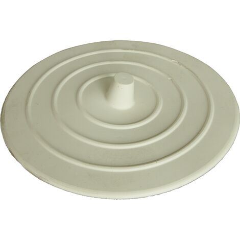 Bouche évier silicone blanc Ø103mm
