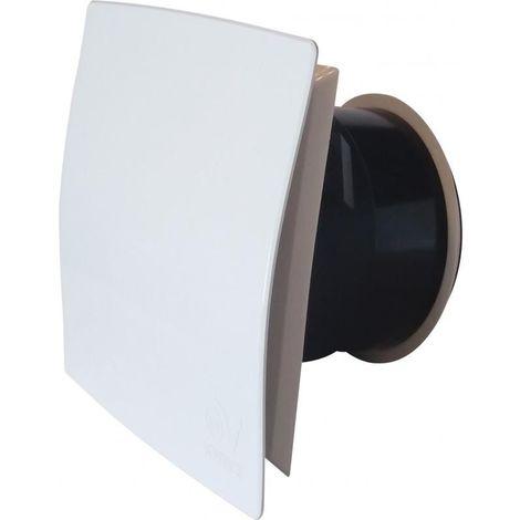 Bouche fixe d'extraction design carrée Ø80 mm