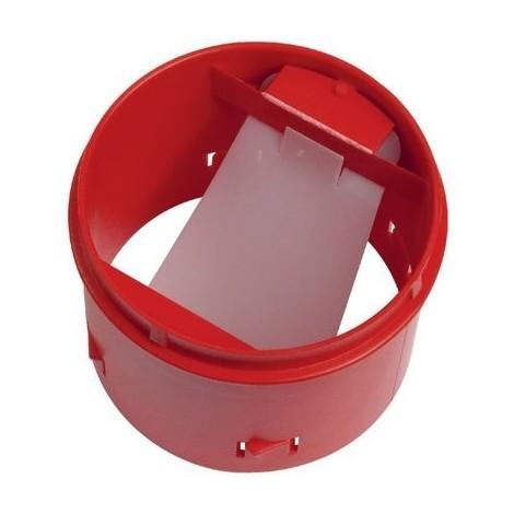 Bouche fixe d'extraction sanitaire Ø80 mm + manchon placo 3 griffes