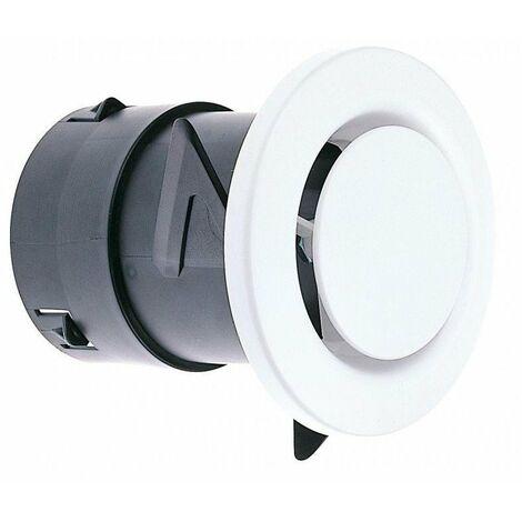 Bouche fixe d'extraction WC pour réseau VMC - Diamètre 80mm - Atlantic