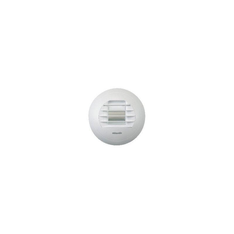 Bouche dextraction VMC hygror/églable /Ø 125mm SDB temporis/é d/ébit 10//45m3//h detection /à piles BH10//45//45I ATLANTIC 422950