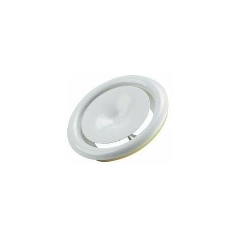 Bouche réglable acier de soufflage air chaud 125 mm