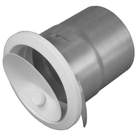 Bouche reglable par molette avec manchette placo - Diamètre intérieur 125 mm