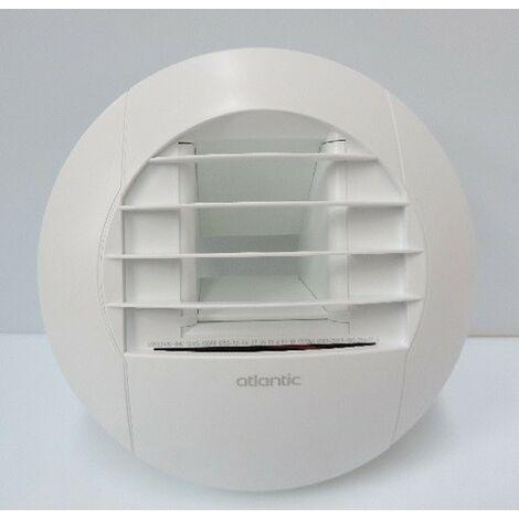 Bouche VMC Hygroréglable à piles Ø 125mm pour Cuisine 10-45m3/heure blanche ATLANTIC 422721
