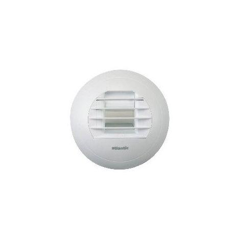 Bouche VMC hygroreglable salle de bain 10/40 Atlantic - Blanc - 125 mm - Blanc