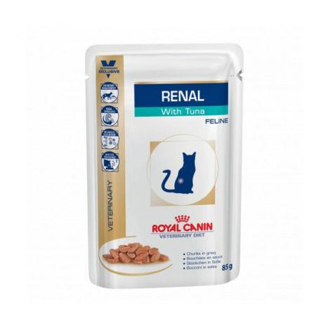 Bouchées Royal Canin Veterinary Diet Renal pour chats Bouchées en sauce Thon 12 Sachets 85 g