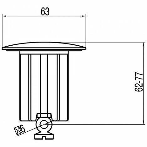 """Bouchon avec cache pour vidage automatique Ø 63 mm 1,1/4"""" - TRES 913484026"""