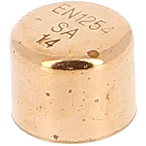 """main image of """"Bouchon laiton pression brut à souder - Femelle"""""""