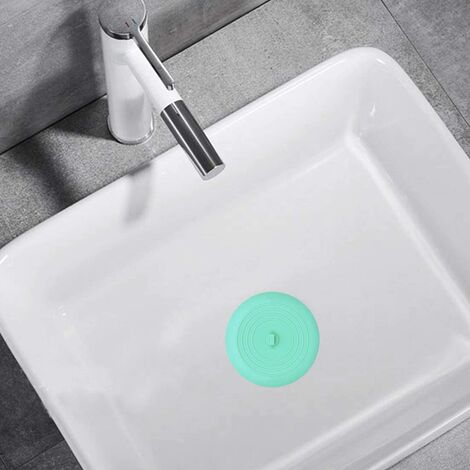 Bouchon de baignoire pour drain, 6 pouces bouchon de baignoire de vidange de douche en silicone pour cuisine, salle de bain, buanderie (gris)