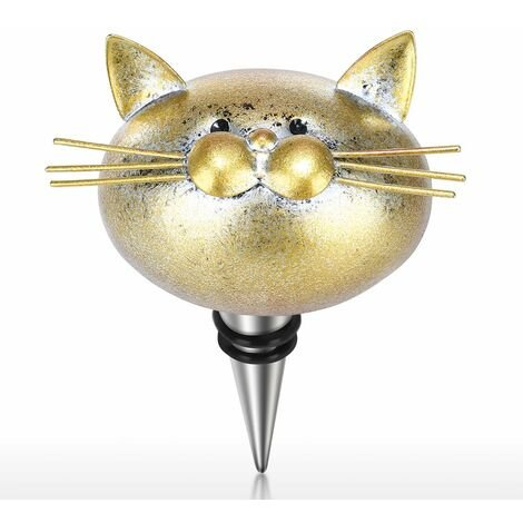 Bouchon de bouteille de vin de chat bouchon de bouteille de vin d'art de fer joint d'aviation bouchon de bouteille de chat decoratif decoration de cuisine