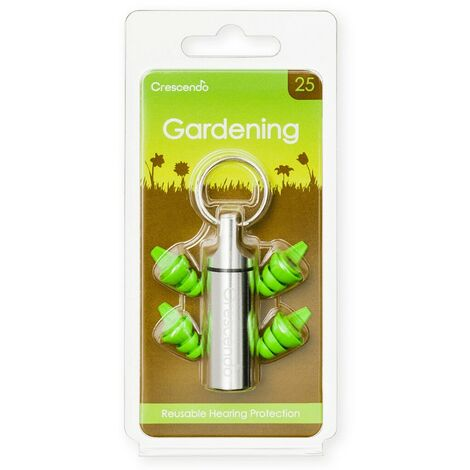 Bouchon d'oreille Crescendo jardinage (-25dB) - Vert
