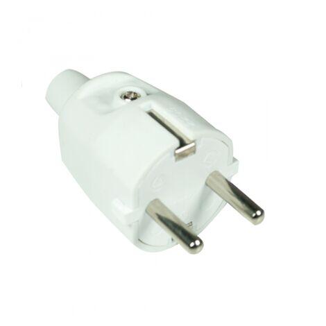 Bouchon en caoutchouc blanc 2P + TT 16A GSC 0200198