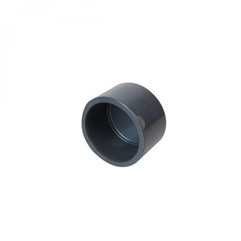 Bouchon en PVC PN 16 - 50 mm - Femelle - Gris - Linxor