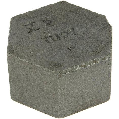 Bouchon fonte noire Femelle tête hexagonale