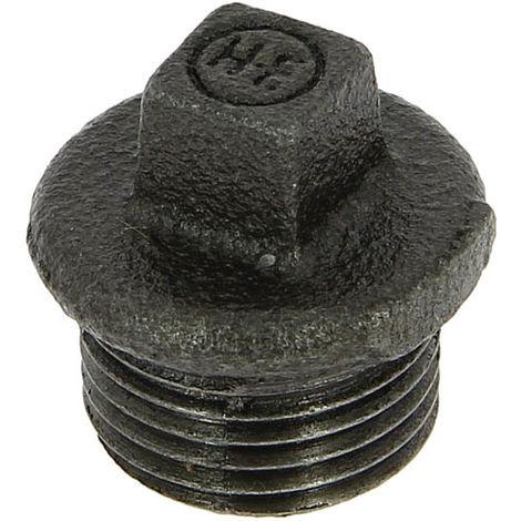 Bouchon fonte noire Mâle tête carrée