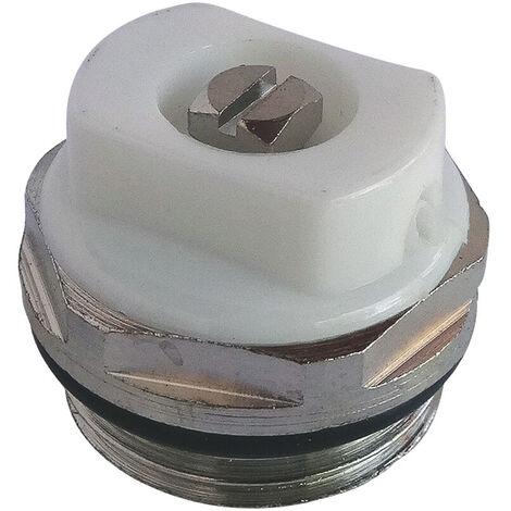 Bouchon purgeur orientable carré 5mm + joint torique nickelé 15x21