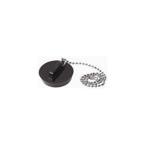 Bouchon pvc noir avec chaînette perlée ø 40 à 58 mm watts