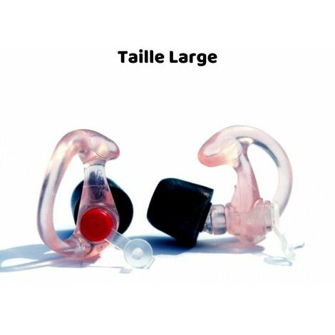 BOUCHONS ALVIS MK 5, Taille Large - Rouge