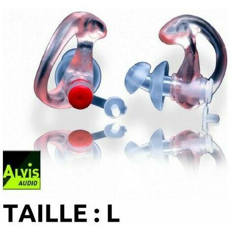 Bouchons d'oreilles high-tech Alvis Mk3 (26db) -Taille L - blanc