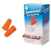 Bouchons d'oreilles SNR 37 dB 200 paires - 282557 - Silverline - Orange -