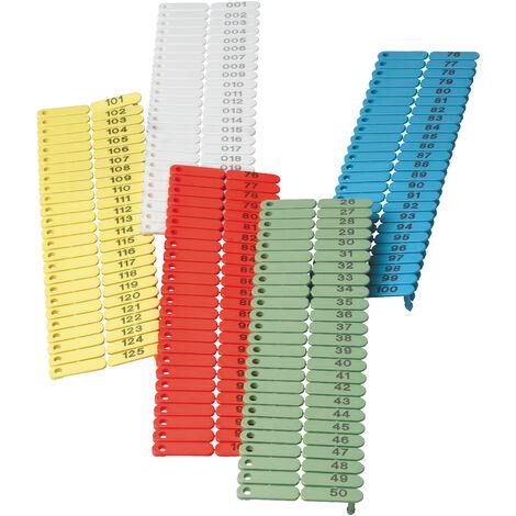 Boucles de marquage Ukal-tag blanc marquage de 1 à 100 x100