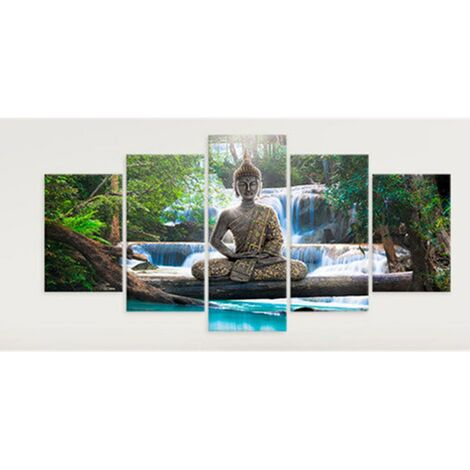 Bouddha Zen Paysage Peinture Impression Sur Toile Moderne Image Wall Art Decor Maison