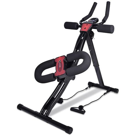 Boudech - AB Trainer Pro 2.0 - Crunch fitness bench for high, low front and side abs with elastic bands for pecs and biceps