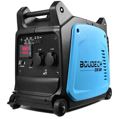 BOUDECH - Zeus 3500 - Professioneller 3KW/6HP Digitaler Wechselrichter-Generator mit OHV 4-Takt 152cc Energiespargeneratorsatz 3500W