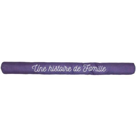 Boudin de porte avec illustrations 80 cm Bordeaux avec citation - Bordeaux