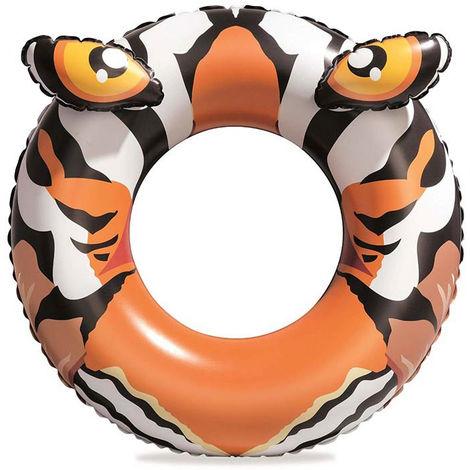 Bouée gonflable crododile / tigre Bestway Ø 91cm