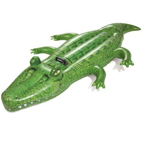 Bouée gonflable piscine Bestway chevauchable crocodile 203x117cm