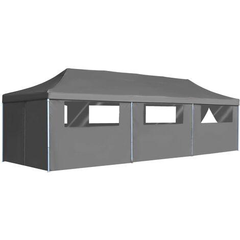 Bouffard 3m x 9m Steel Pop-Up Party Tent by Dakota Fields - Anthracite