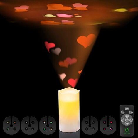 Lot de 3 Bougies à DEL Lumières Avec Télécommande Cadeau de Noël