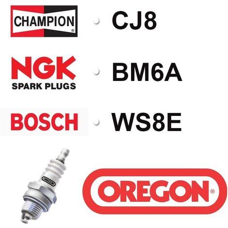 Bougie OREGON - CHAMPION cj8 NGK bm6a BOSCH ws8e