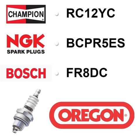 Bougie OREGON - CHAMPION rc12yc NGK bcpr5es BOSCH fr8dc