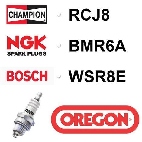 Bougie OREGON - CHAMPION rcj8 NGK bmr6a BOSCH wsr8e