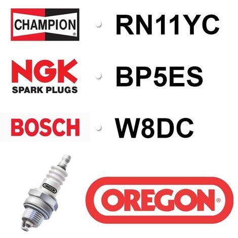 Bougie OREGON - CHAMPION rn11yc NGK bp5es - bpr5es BOSCH w8dc