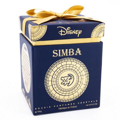Bougie parfumée végétale Disney Le Roi lion thème Simba bleu et or