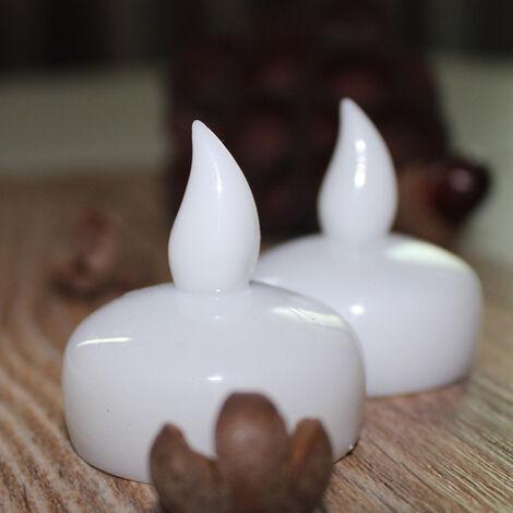 Bougies étanches qui s'allument lorsqu'elles sont exposées à l'eau SPA douche bougies décoratives bougies flottantes à led