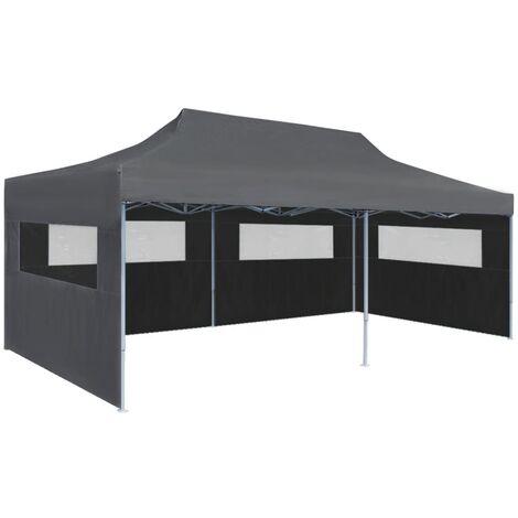Bouldin 3m x 6m Steel Pop-Up Party Tent by Dakota Fields - Anthracite